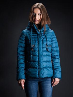 Куртка Clasna. Цвет: лазурный, темно-коричневый, темно-синий