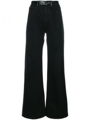 Широкие джинсы Ssheena. Цвет: чёрный