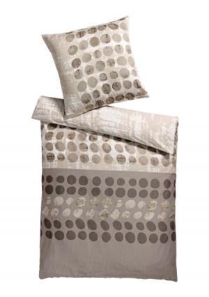 Постельное белье Heine Home. Цвет: серо-коричневый