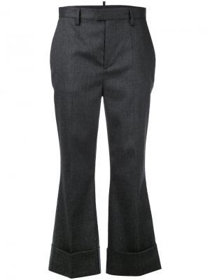 Укороченные брюки Dsquared2. Цвет: серый