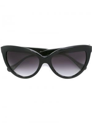 Солнцезащитные очки кошачий глаз Dita Eyewear. Цвет: чёрный
