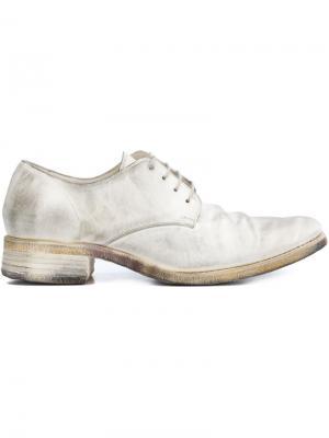 Ботинки Дерби  на низком каблуке A Diciannoveventitre. Цвет: белый