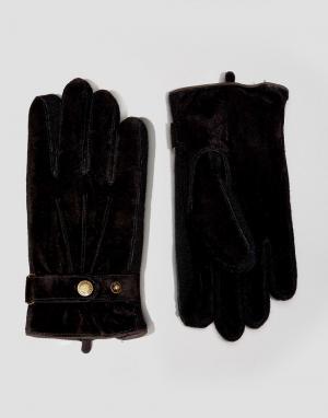 Dents Черные замшевые перчатки Chester. Цвет: черный