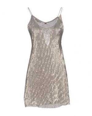 Короткое платье KORALLINE. Цвет: серый