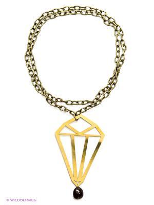 Ожерелье Polina Selezneva. Цвет: бордовый, золотистый