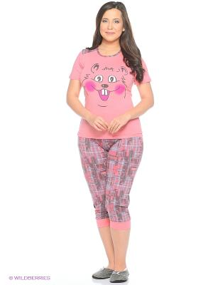 Женская пижама NICOLETTA. Цвет: коралловый
