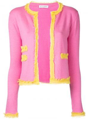 Кардиган с бахромой Altuzarra. Цвет: розовый и фиолетовый