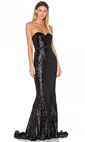 Вечернее платье cheyna Elle Zeitoune. Цвет: черный