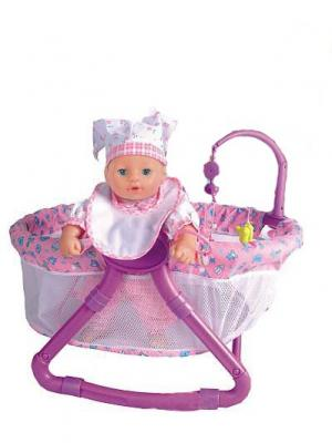 Agatka Манеж для куклы MSN TOYS. Цвет: белый, фиолетовый, розовый