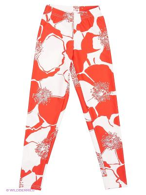 Леггинсы EMDI. Цвет: красный, белый