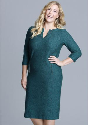 Платье MY STYLE. Цвет: темно-бирюзовый