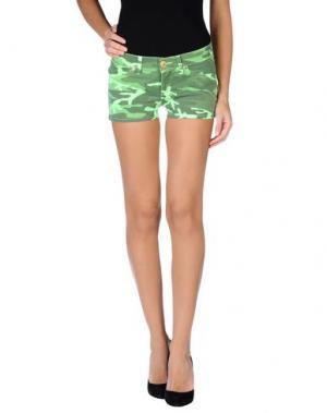 Повседневные шорты TAKE-TWO. Цвет: светло-зеленый