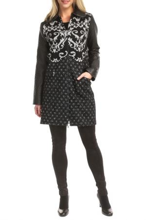 Пальто TOK. Цвет: black and white