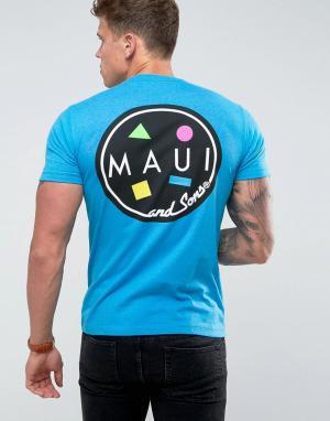 Maui & Sons Футболка с принтом логотипа Cookie. Цвет: синий