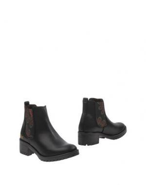 Полусапоги и высокие ботинки DESIGUAL. Цвет: черный