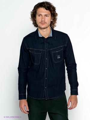 Рубашка VOI JEANS. Цвет: синий