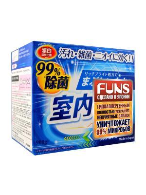 Порошок стиральный FUNS для чистоты вещей и сушки белья в помещении 900 гр. Цвет: синий