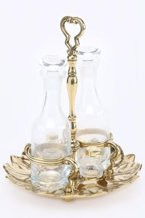 Набор из 4-х предметов Stilars. Цвет: золотой
