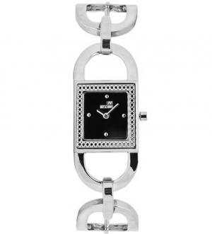 Часы с серебристым металлическим браслетом Moschino