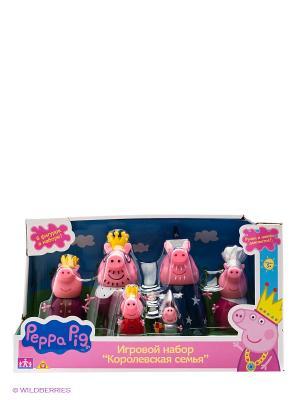 Игровой набор Королевская семья Пеппы Peppa Pig. Цвет: розовый, малиновый