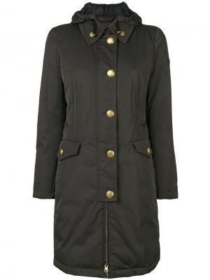 Однобортное пальто Peuterey. Цвет: зелёный
