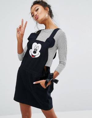 Lazy Oaf Сарафан с Микки Маусом X Disney. Цвет: черный