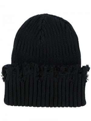 Трикотажная шапка Liam Hodges. Цвет: чёрный