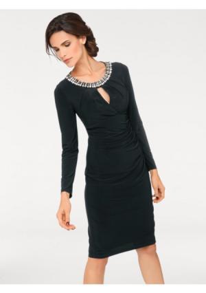 Коктейльное платье ASHLEY BROOKE by Heine. Цвет: изумрудный, красный, черный