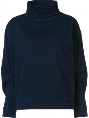 Толстовка с воротником-стойкой Ag Jeans. Цвет: синий