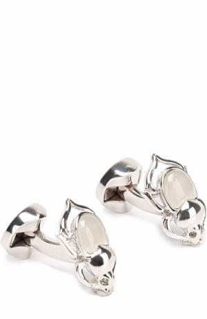 Запонки с кристаллами Swarovski Ermenegildo Zegna. Цвет: белый