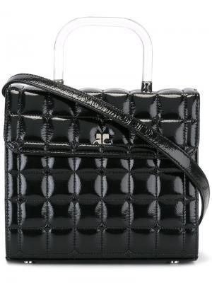 Стеганая сумка через плечо Courrèges. Цвет: чёрный