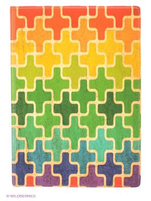 Обложка для паспорта Пазл Mitya Veselkov. Цвет: оранжевый, желтый, зеленый