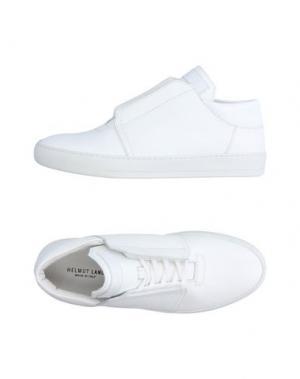 Высокие кеды и кроссовки HELMUT LANG. Цвет: белый