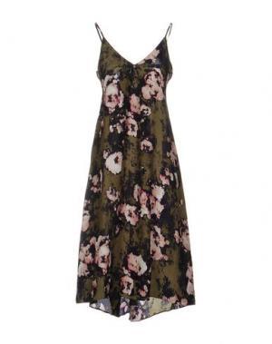 Платье до колена ENZA COSTA. Цвет: зеленый-милитари