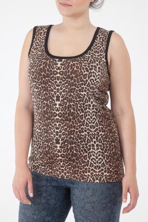 Топ Open End. Цвет: leopard print