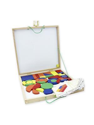 Деревянная игрушка Магнитный конструктор Фабрика Фантазий. Цвет: белый