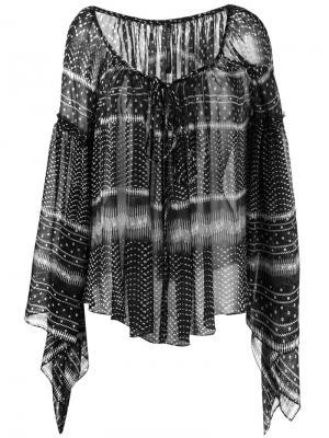 Блузка со сборками Plein Sud. Цвет: чёрный