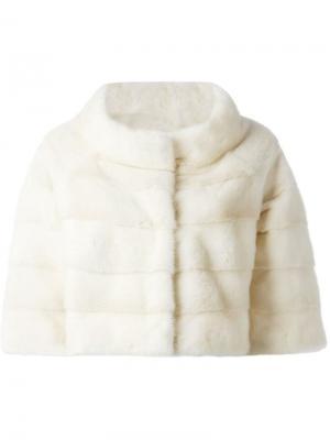 Укороченная куртка Liska. Цвет: телесный
