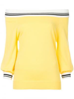Off shoulder jumper Guild Prime. Цвет: жёлтый и оранжевый