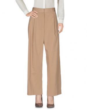 Повседневные брюки WOOD. Цвет: верблюжий