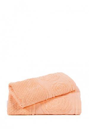 Комплект полотенец 2 шт. Bellehome. Цвет: коралловый
