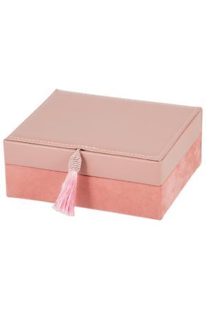 Шкатулка для украшений Русские подарки. Цвет: розовый