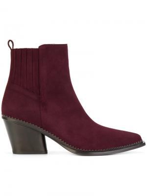 Ботинки на каблуке в стиле вестерн Sartore. Цвет: красный
