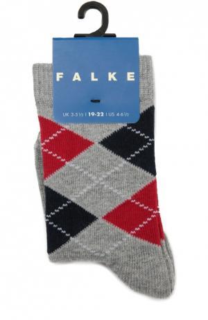 Носки с рисунком Falke. Цвет: серый