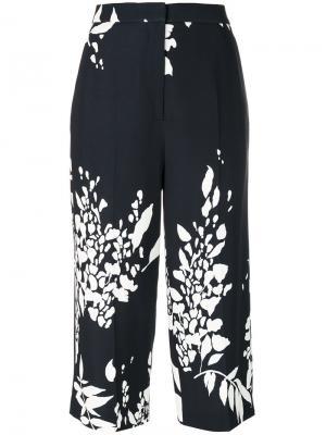 Укороченные брюки с цветочным принтом Rochas. Цвет: синий