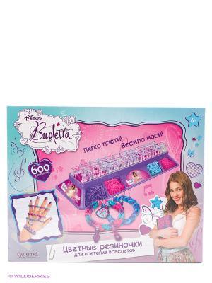 Виолетта. Цветные резиночки. Набор в коробке. Crazy Loom. Цвет: розовый, голубой, фиолетовый