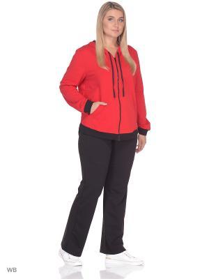 Спортивный костюм FORLIFE. Цвет: красный, черный