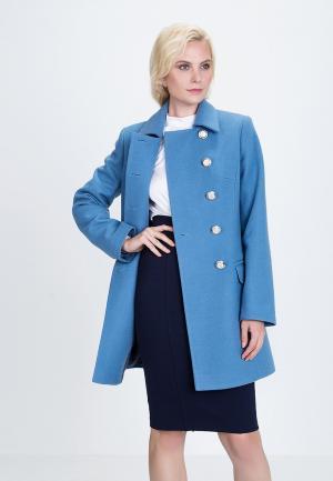 Пальто Audrey Right. Цвет: голубой