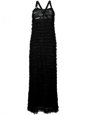Длинное платье Dai Damir Doma. Цвет: чёрный