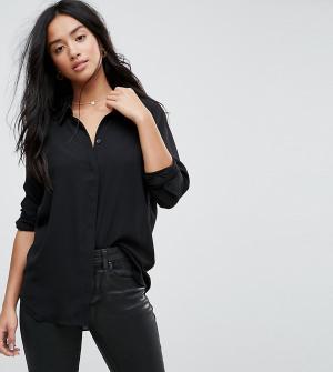 ASOS Petite Мягкая рубашка. Цвет: черный